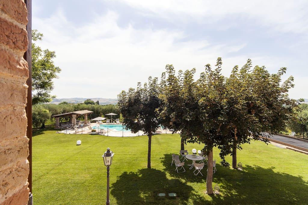 The garden of Villa Pedossa