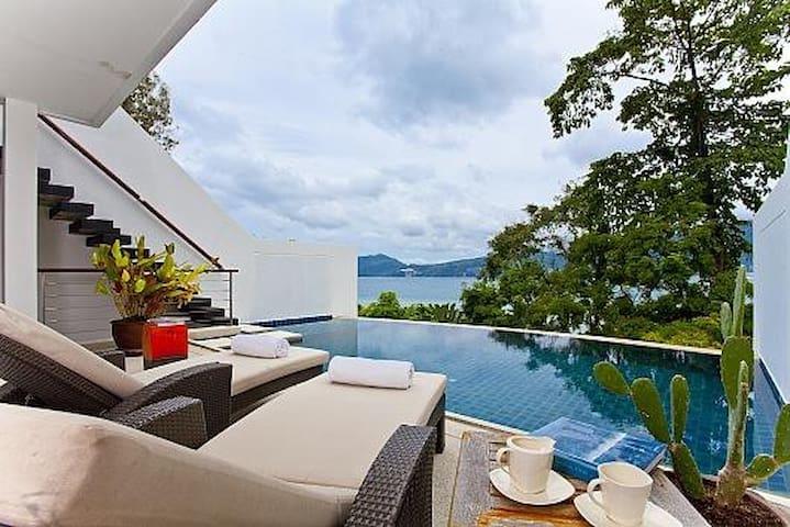 Atika Villa 6 oceanfront pool villa - Patong - Dom