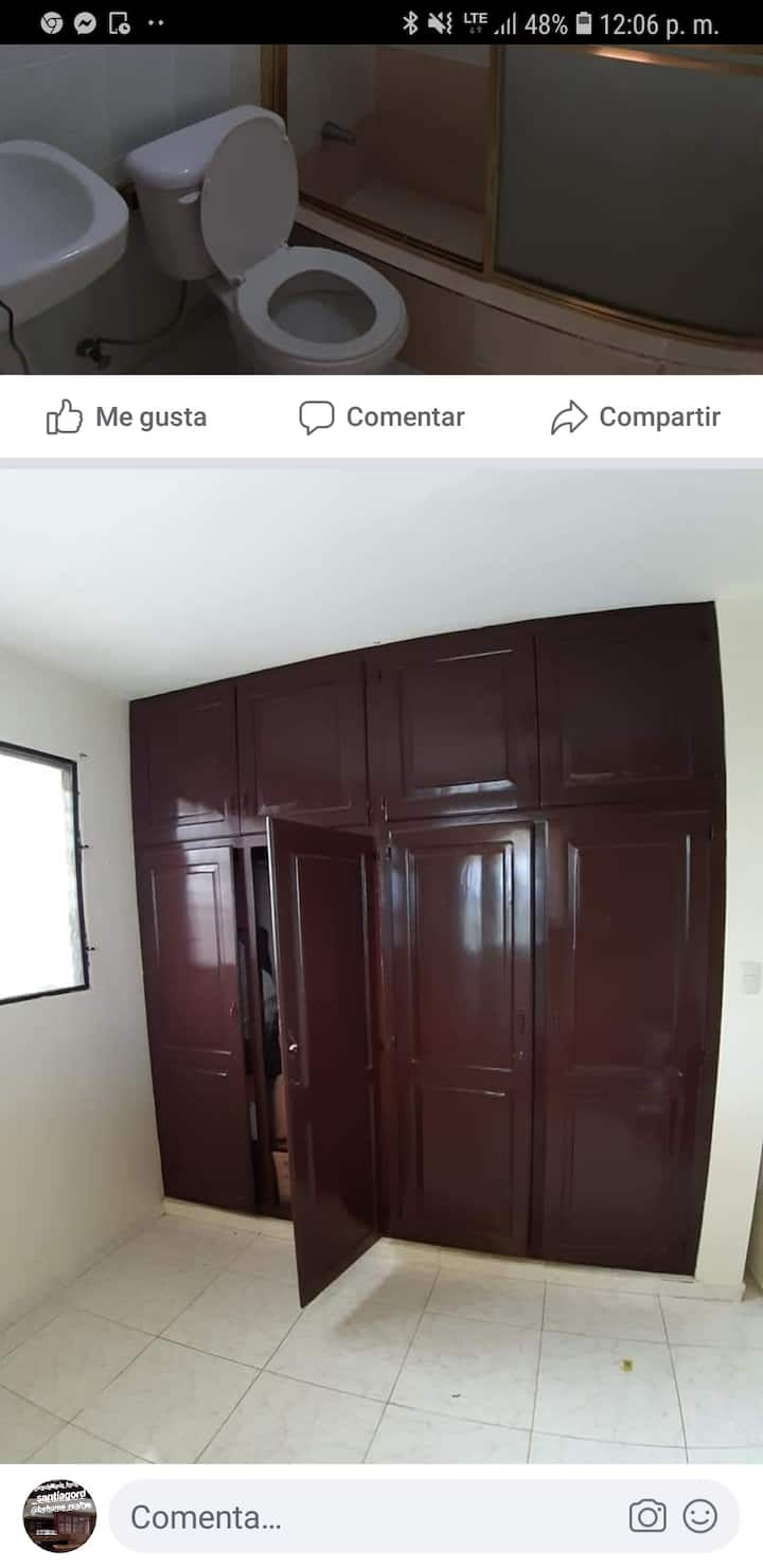 Rento habitación completa en residencial olimpo
