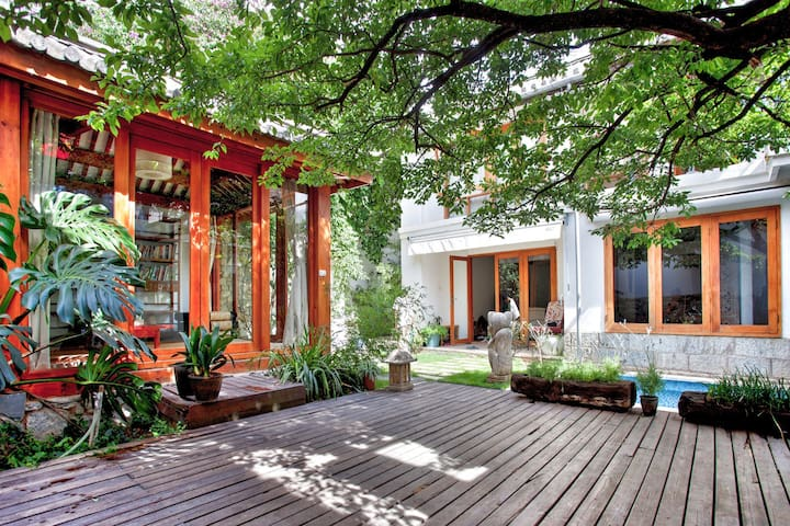 幽静的东南亚风格三卧室独立院子amazing garden villa - Dali - Hus