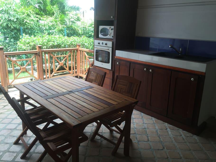 La cuisine sur terrasse