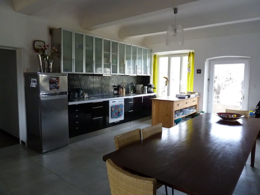 Living area - kitchen-dining