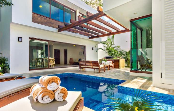 Casa Sieva- villa con alberca, chef &Spa 10PAX4REC