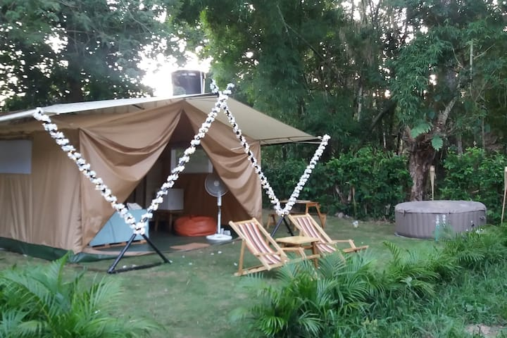 Manantial Glamping - Con Jacuzzi y piscina / Hab#1