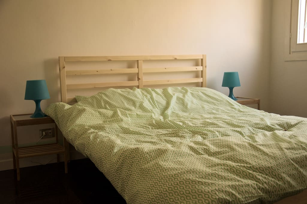 """Green room - double bed in a relaxing room dedicated to """"Venice and water"""""""