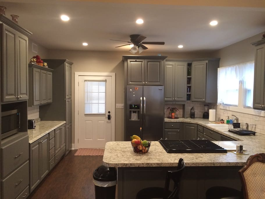 Spacious kitchen with all new appliances, blender and electric hand mixer