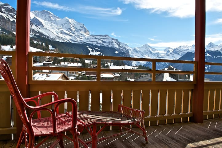 Historical (1912) Alpine Room with Jungfrau View