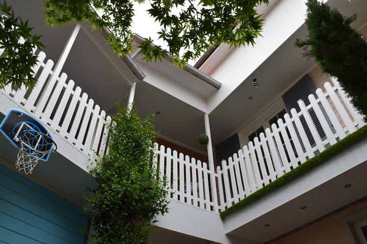 Belle chambre vue sur terrasse calme et zen - Tarbes - Ev