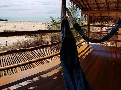 Kabana Kûara vista ao mar 200m praia CanoaQuebrada