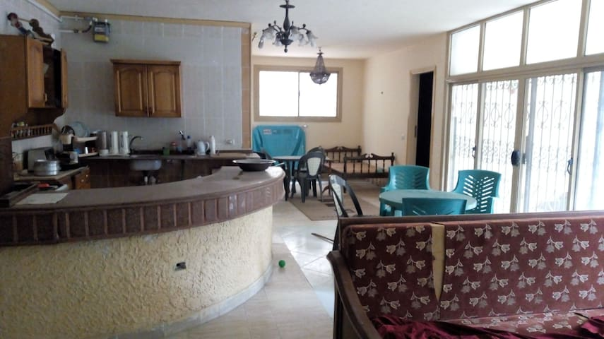 Small furnished apartment with garden.