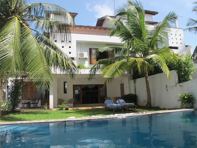 Three-bedroomed villa with stunning views over Hikkaduwa lake