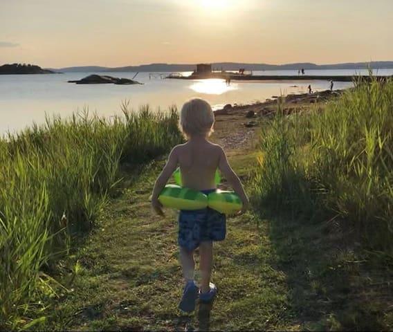 Källsby Rosenhöjd, 300m från hav och salta bad