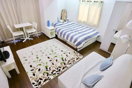 2分到铁路站 3分到难波 道顿堀 心斎桥 绝佳地点美国村 交通方便宽敞的房间 - Chuo Ward, Osaka - 公寓