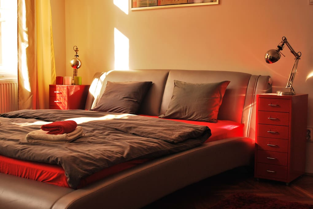 Red Room in Afternoon sunshine