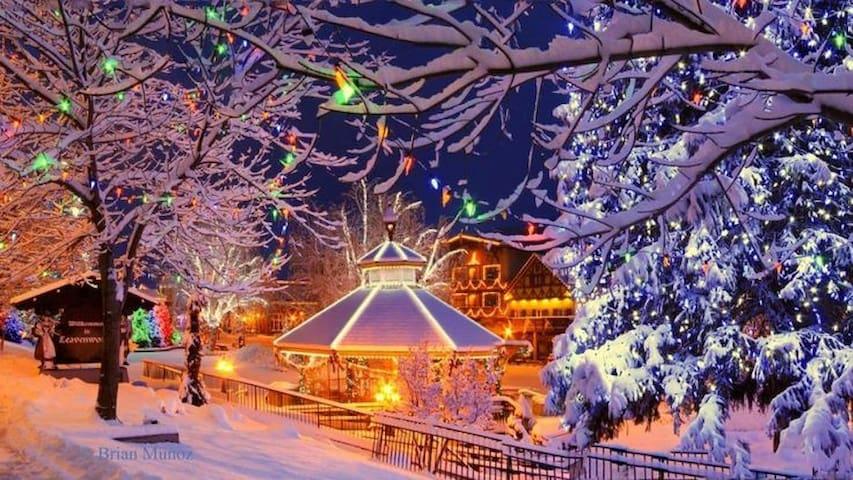 Just 5 miles to Leavenworth Christmas Lighting
