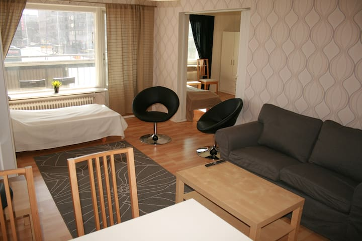 Cozy 2-bedroom apartment in the centre of Pori - Pori - 公寓