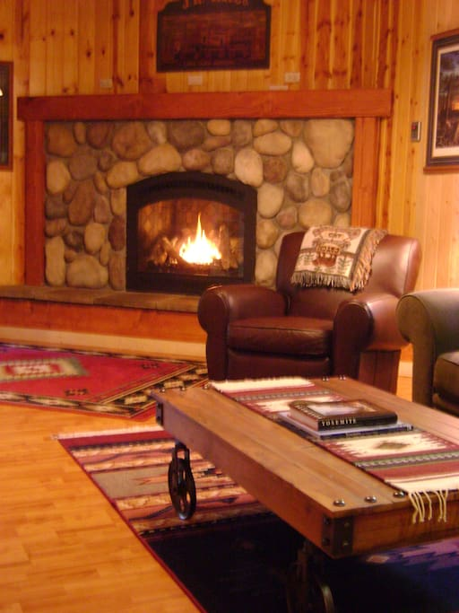 Settle in next to the fire with a classic novel or just reflect on your day.