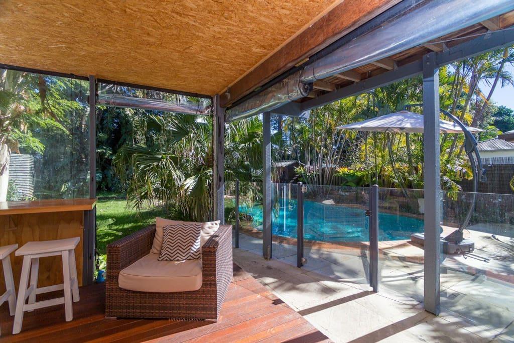 pool area just off verandah