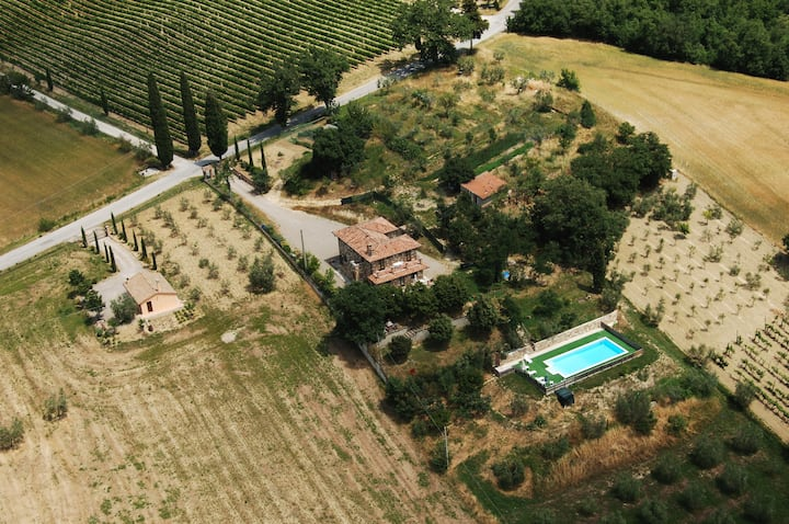 Private villa with pool close to Chianciano Terme