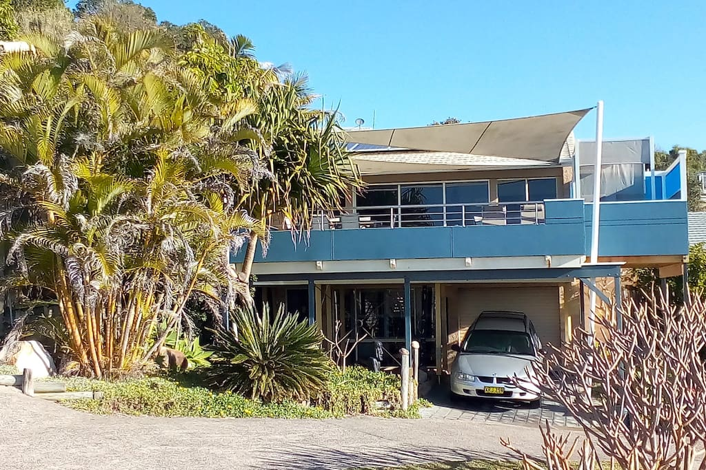 Boomers Beach House overlooking the sand and surf at Boomerang Beach