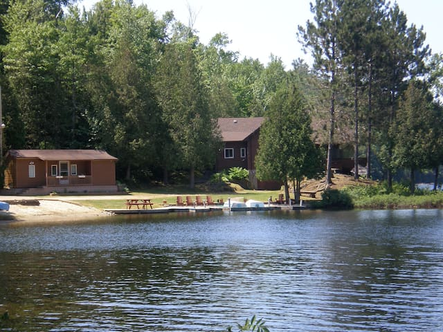 heavenly vacation: Main home, bunk houses, dock and play beach