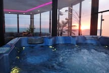 Amazing sea views from the fourth floor hot tub spa and terraces