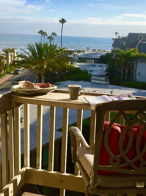 Imagine having morning coffee and reading with this beautiful ocean views