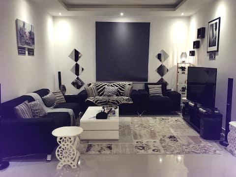 apartment in a compound at city center.