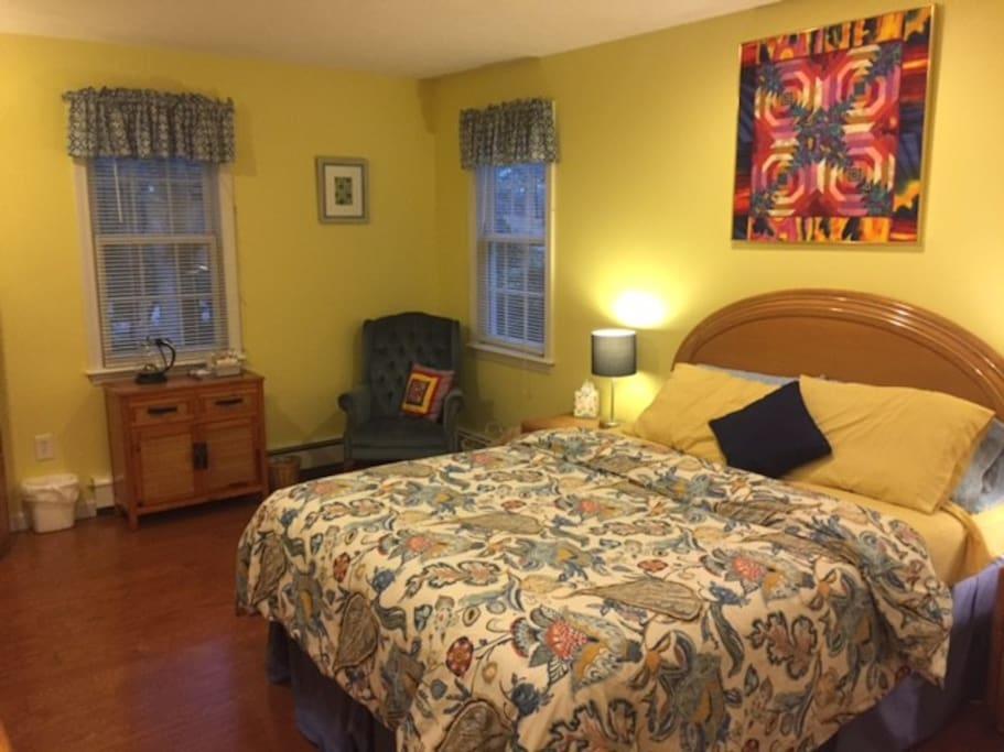 queen size bed  first floor