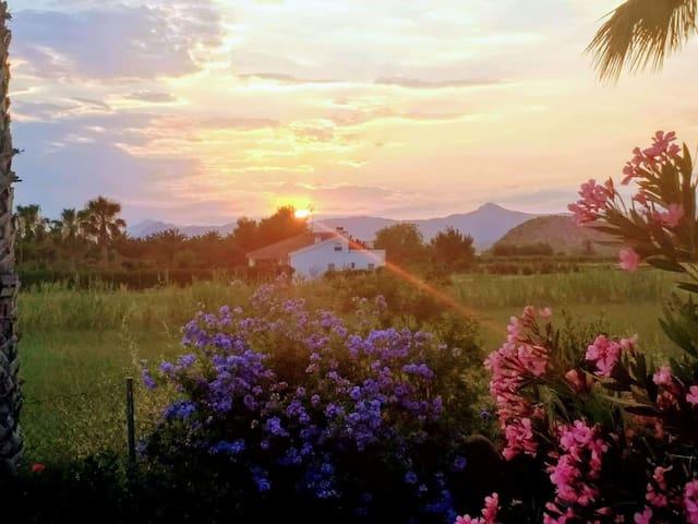 Paraíso rural en plena huerta y cerca del mar