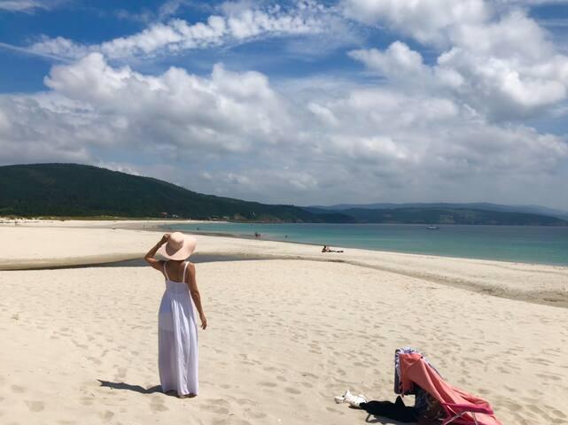 Primera línea de playa rodeado de naturaleza