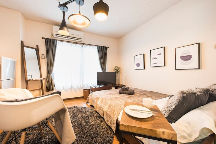 3min walk Sta./4min Shinjuku/Free Pocket WiFi#22