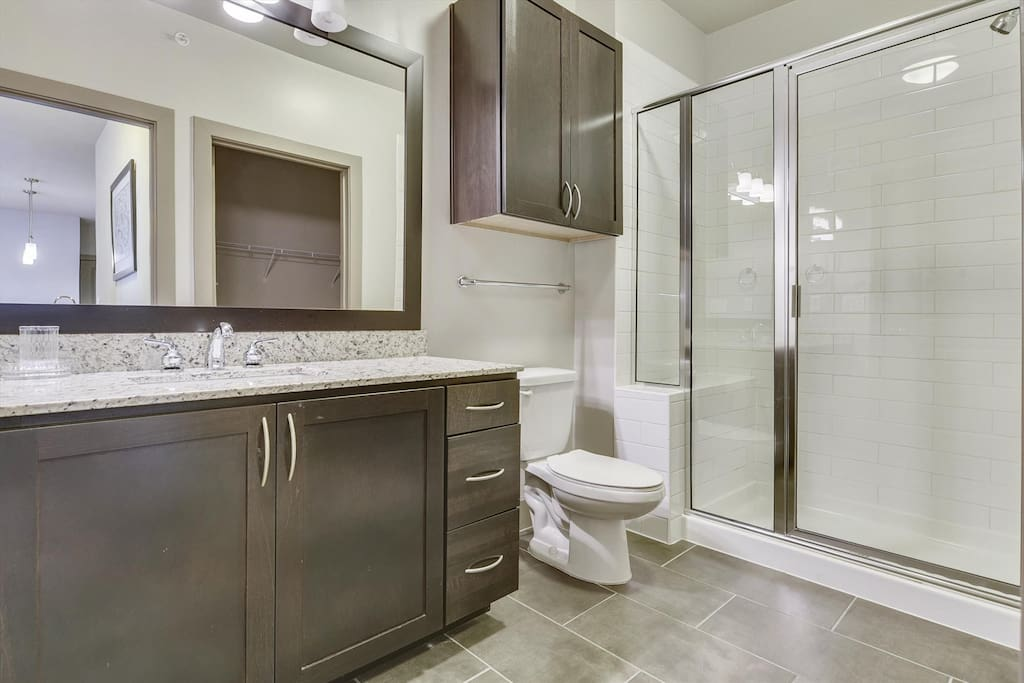 Beautiful bathroom with stand up shower