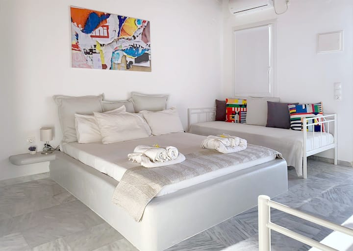 Mykonos town Appartment Sea view: for 2-3-4 guests