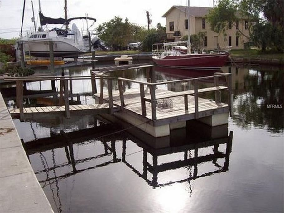 private dock/fishing/pedal boating on canal