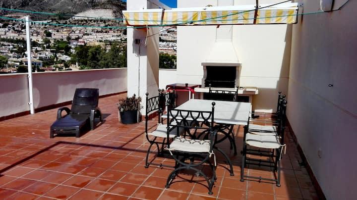 Bright penthouse with views in Arroyo de la Miel.