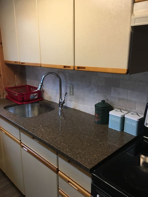 New Granite Counters and Sink