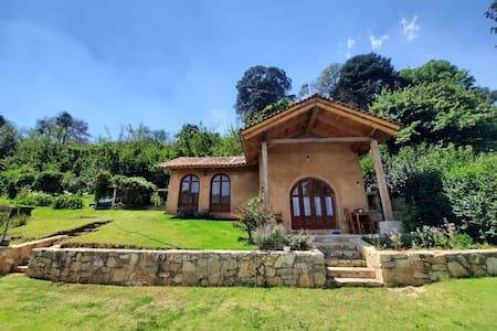 Cabaña huerto jardín vista hermosa barriohistórico