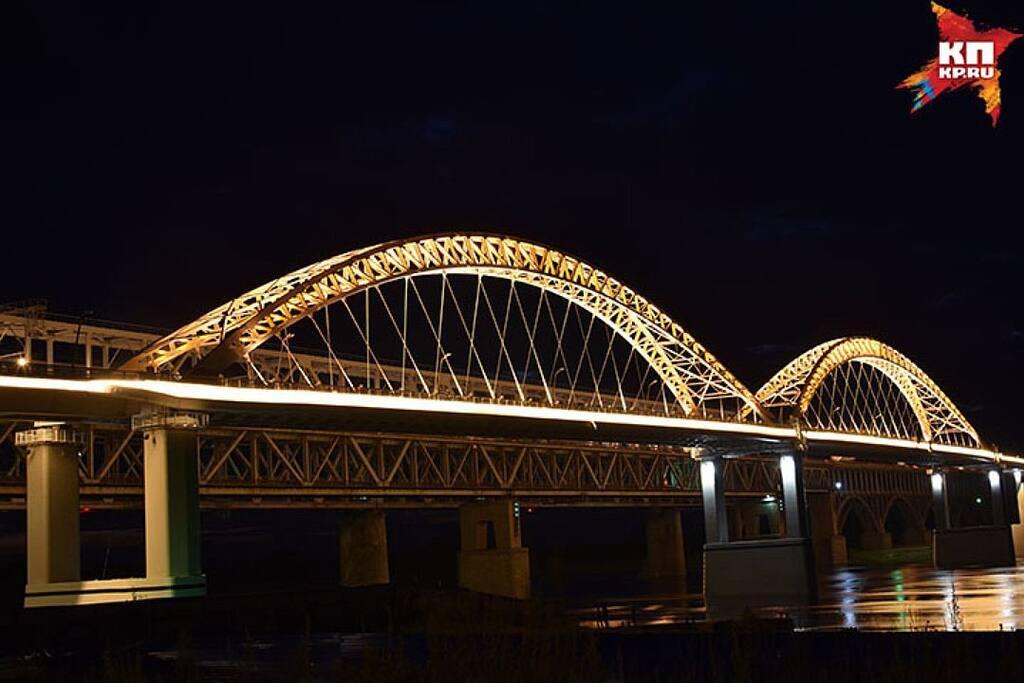 Borskiy bridge across the Volga river