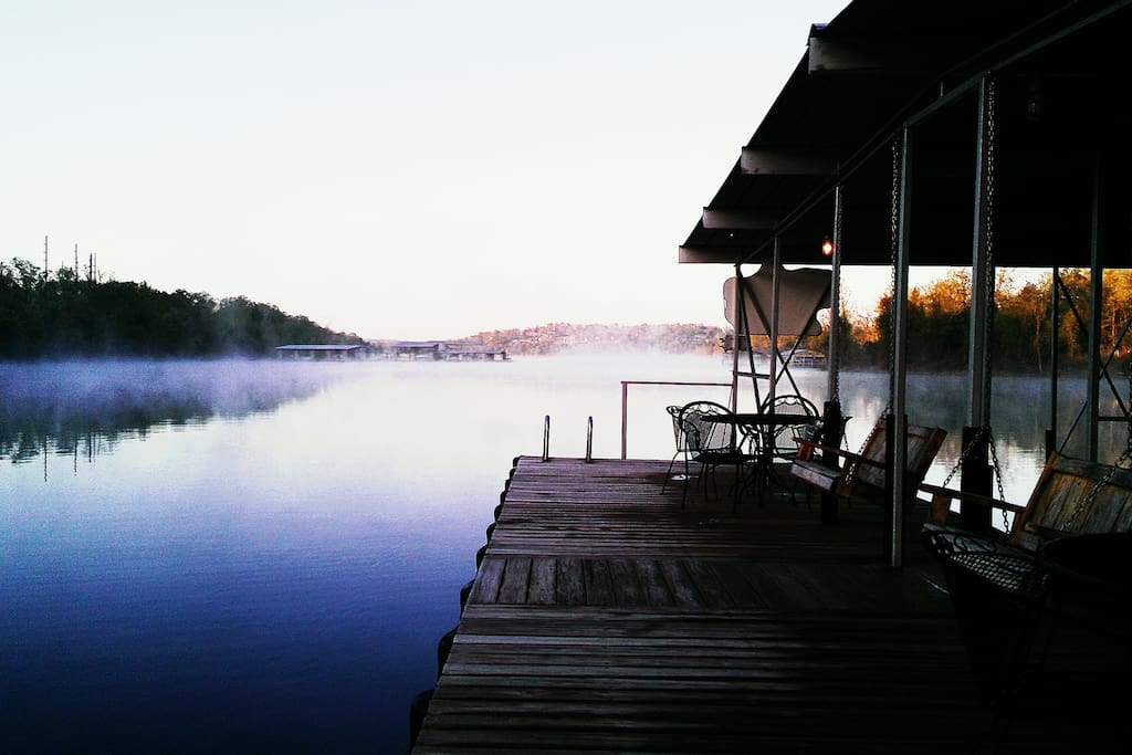 Enjoy a beautiful and relaxing morning on Table Rock Lake.