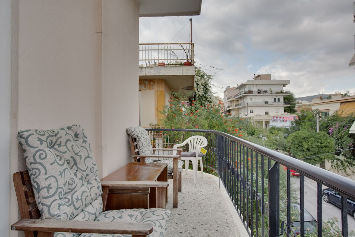Sunny spacious balcony to enjoy your breakfast / coffee and relax