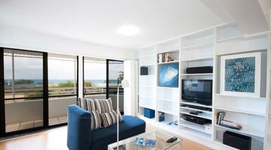 Ocean views from two levels relax and enjoy watching the surfers or whales in whale season in the open plan spacious lounge dining and kitchen area with verandas both sides to let the sea breeze through