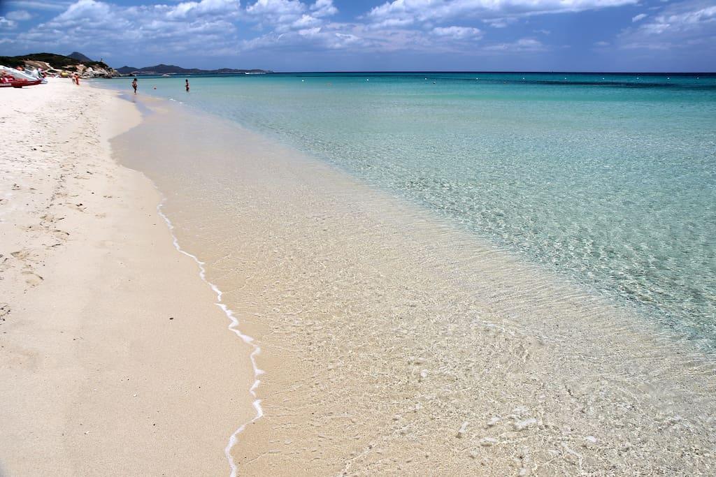spiaggia davanti casa