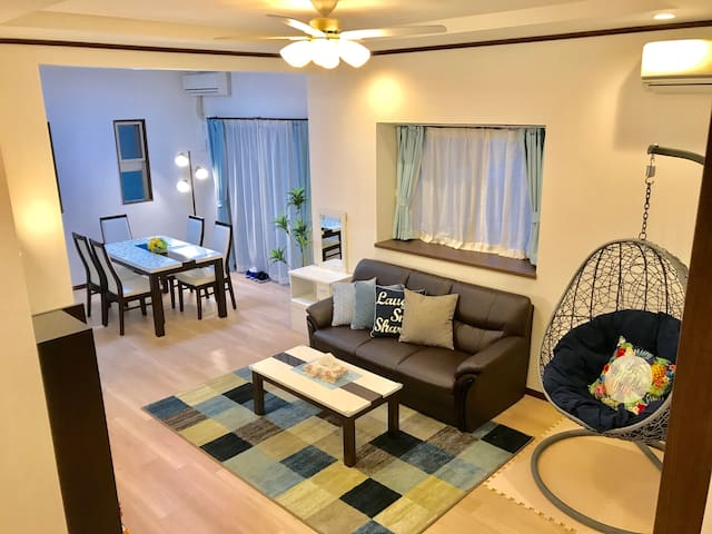 Comfortable house near Aeon Mall, in Okinawa City.