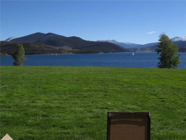 Summer Patio View of Lake Dillon
