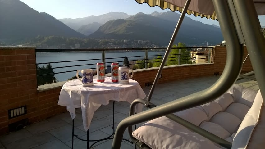 Room and private balcony awesome view on Orta Lake