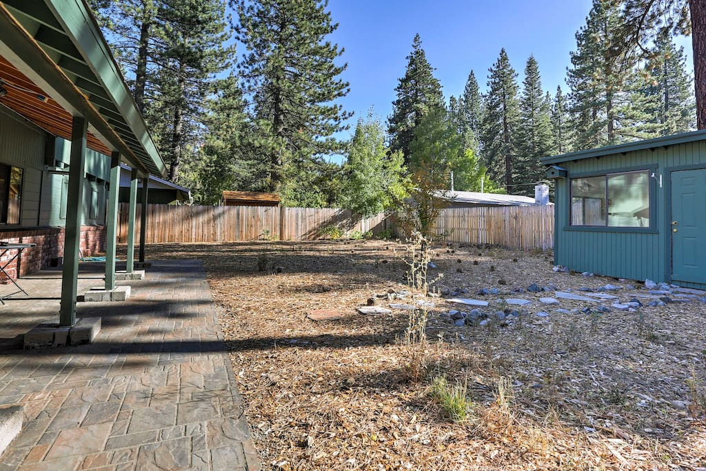 The home features a fenced-in yard, so you can easily spend those sunny days relaxing outside.