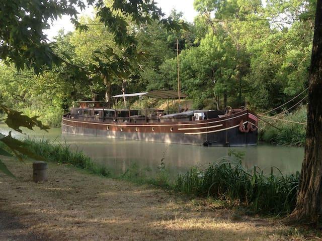 Péniche Lodela sur le canal du midi - Villedubert - Båt