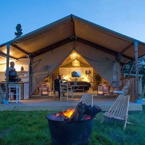 Luxury glamping overlooking picturesque river - Clifton - Tält