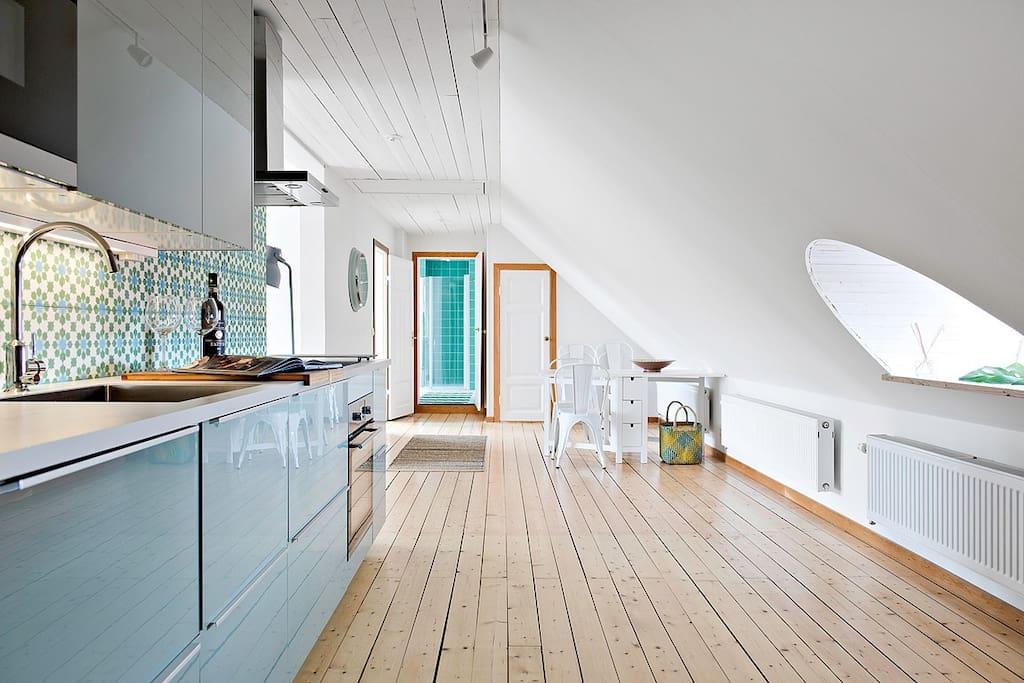 Sprillans nytt kök med alla faciliteter